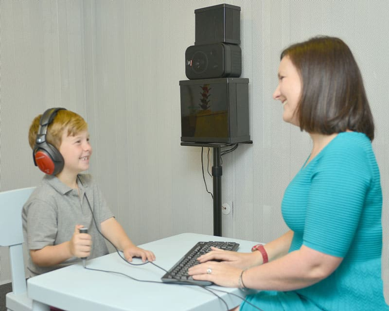 Boy tested for hearing